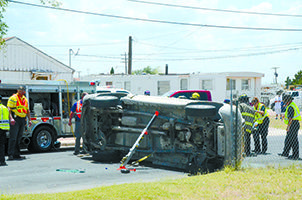 VIDEO: Hobbs Fire and Police Departments Respond to Two-Vehicle Accident